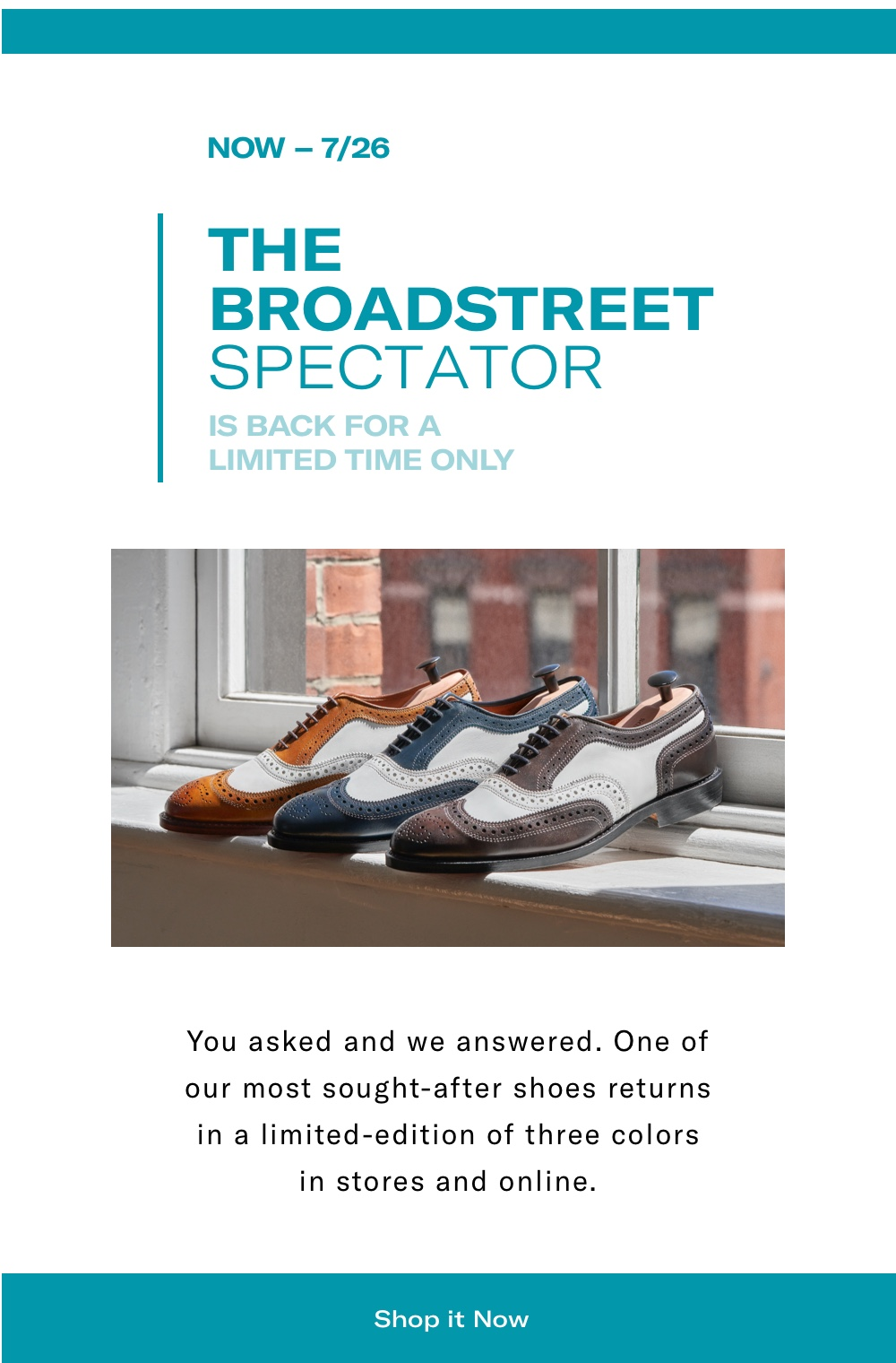 The Broadstreet Spectators - Back for a Limited Time Only