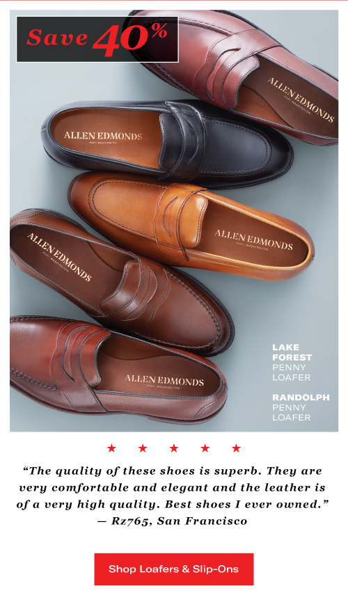 Save 40% Off Lake Forest and Randolph Penny Loafers