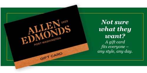 Not sure what they want? A gift card fits everyone - any style, any day.