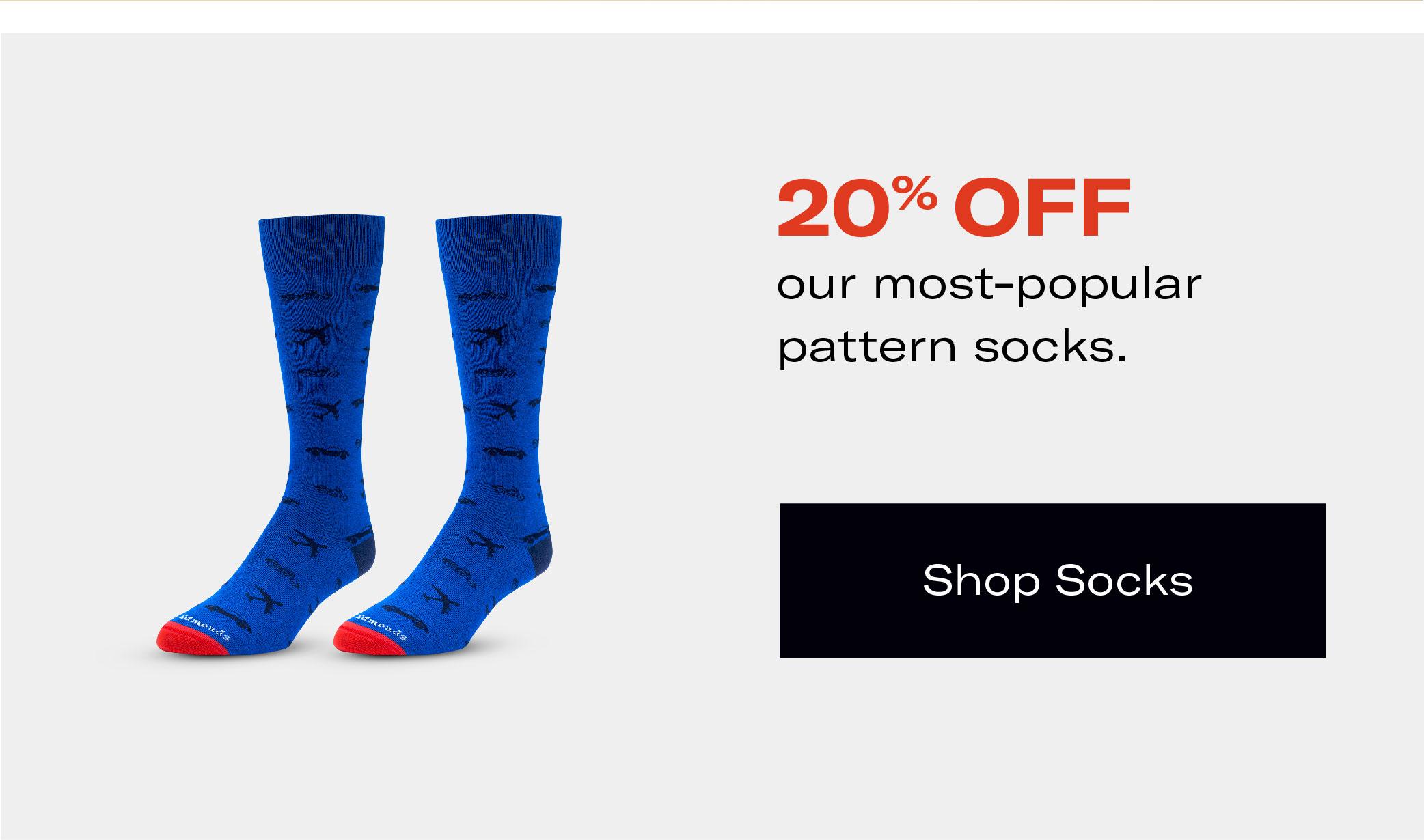 Save 20% on Socks
